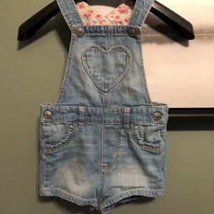 H&M Blue Jean Short Overalls